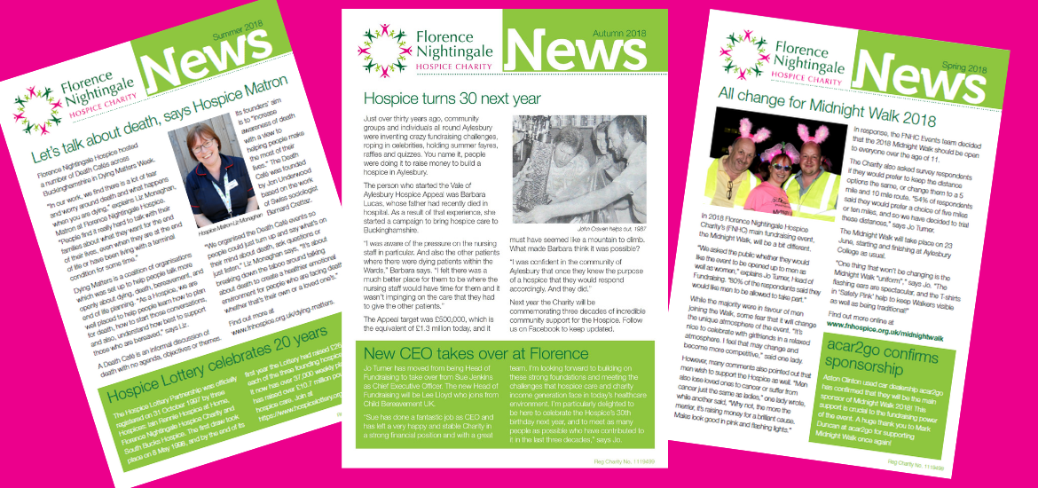 Florence Nightingale Hospice Charity newsletter